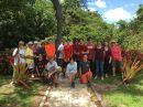 MI Academy and Calusa members have finished the planting at the memorial wall area and small adjacent garden!